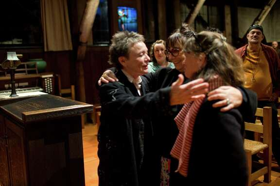 "Laurie Anderson, Susan Woods and Sophie Calle at ""wedding"""