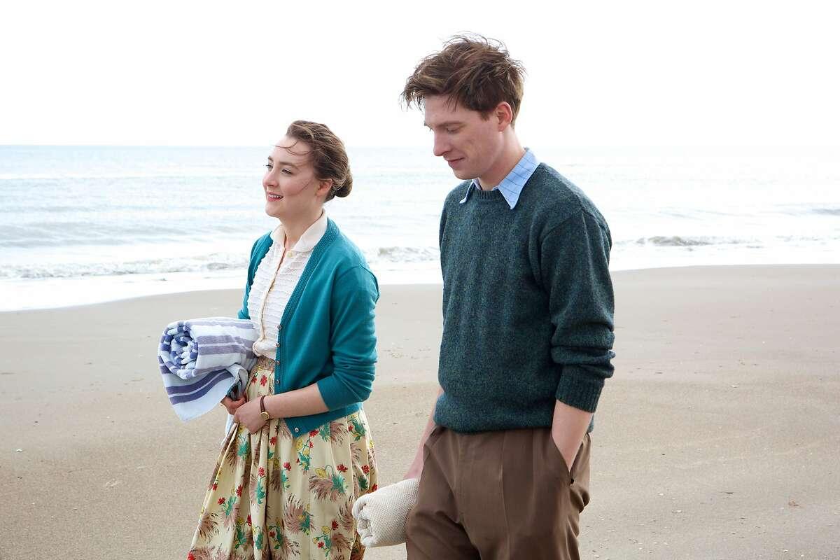 "Saorise Ronan as ""Eilis"" and Domhnall Gleeson as ""Jim"" in ""Brooklyn."" (Kerry Brown/Twentieth Century Fox)"
