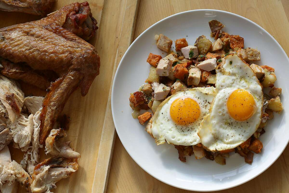 Turkey hash from Thanksgiving leftovers in San Francisco, California, on Tuesday, November 10, 2015.