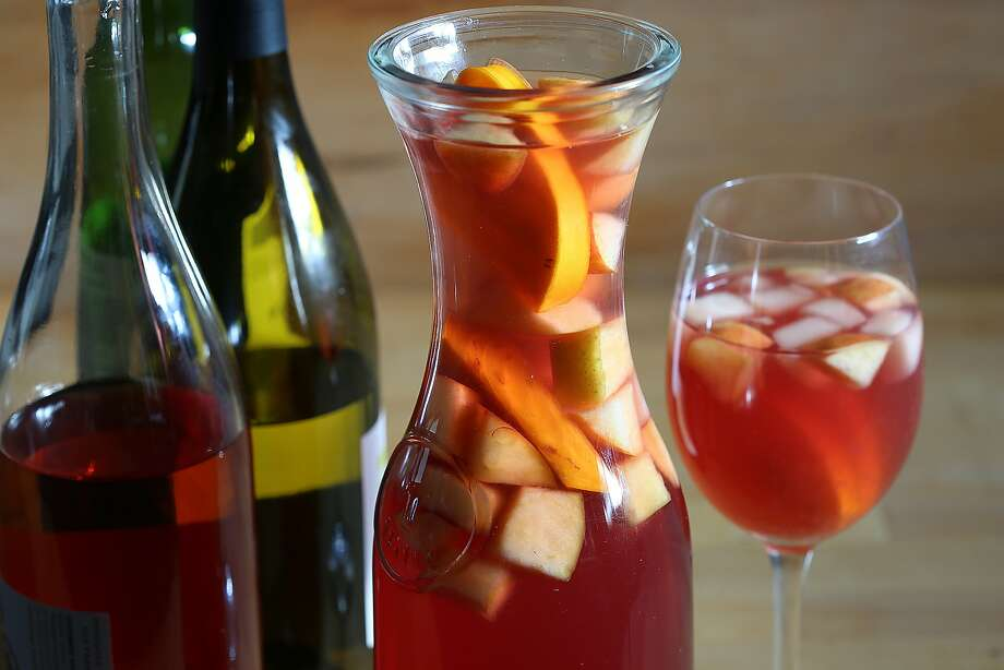 Sangria with leftover wine from Thanksgiving in San Francisco, California, on Tuesday, November 10, 2015. Photo: Liz Hafalia, The Chronicle