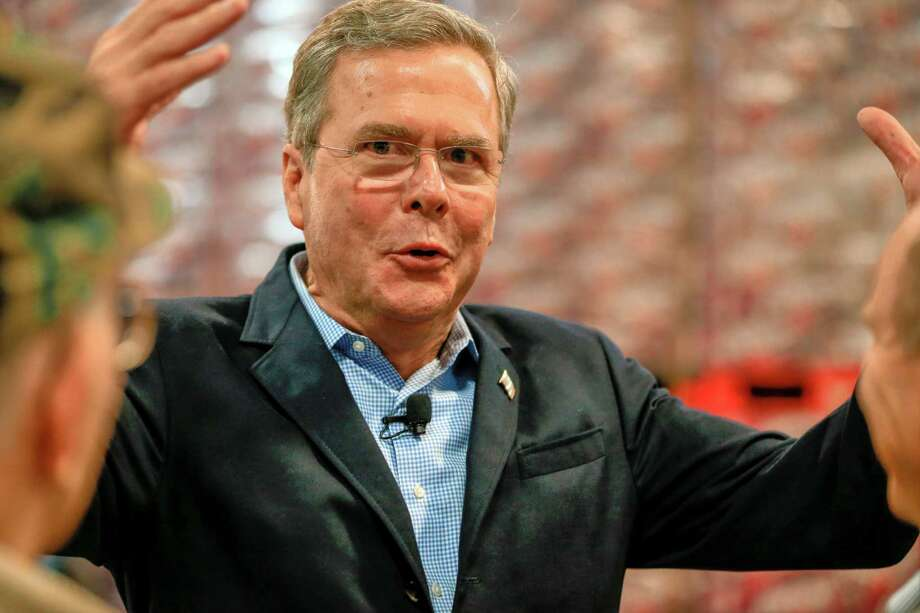 Republican presidential candidate, former Florida Gov. Jeb Bush, speaks during a campaign event at the Coca Cola bottling plant in Atlantic, Iowa, Wednesday, Nov. 11, 2015. (AP Photo/Nati Harnik) Photo: Nati Harnik, STF / Associated Press / AP