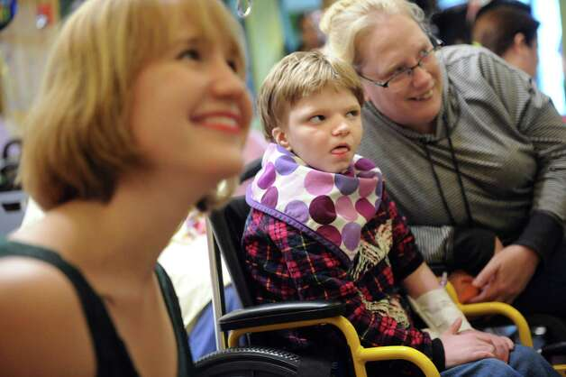 "Patients and families enjoy the Park Playhouse's production of ""A Year with Frog and Toad"" at the Bernard & Millie Duker Children's Hospital on Wednesday, Nov. 11, 2015, at Albany Medical Center in Albany, N.Y. (Cindy Schultz / Times Union) Photo: Cindy Schultz / 00034207A"