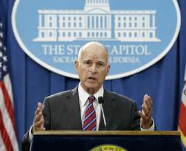 FILE - In this Wednesday, Sept. 9, 2015, file photo, California Gov. Jerry Brown gestures during a news conference, in Sacramento, Calif. Brown directed state oil and gas regulators to investigate the oil and gas potential of his family's ranch land in Northern California, state records obtained by the Associated Press show. Brown saved himself the $200 to $400 hourly cost of hiring a geologist to determine if there was money to be made from his family's mineral deposits, and may have violated state law on diverting public employees and other resources for personal purposes. (AP Photo/Rich Pedroncelli, File)