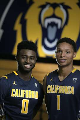 Cal basketball stars Jaylen Brown, left, and Ivan Rabb, right, at Haas Pavilion in Berkeley, Calif., on Wednesday, November 11, 2015.