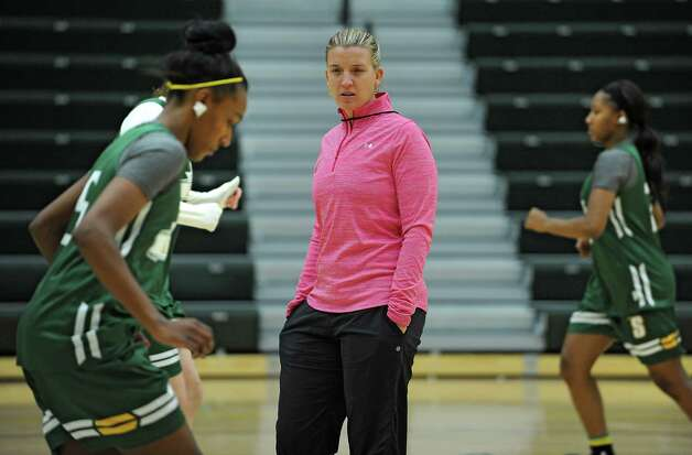 Siena women's basketball coach Ali Jaques watches her players perform a drill during practice on Wednesday, Nov. 11, 2015 in Loudonville, N.Y.  (Lori Van Buren / Times Union) Photo: Lori Van Buren / 00034194A