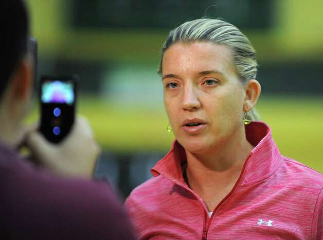 Siena women's basketball coach Ali Jaques is interviewed before practice on Wednesday, Nov. 11, 2015 in Loudonville, N.Y.  (Lori Van Buren / Times Union) Photo: Lori Van Buren / 00034194A