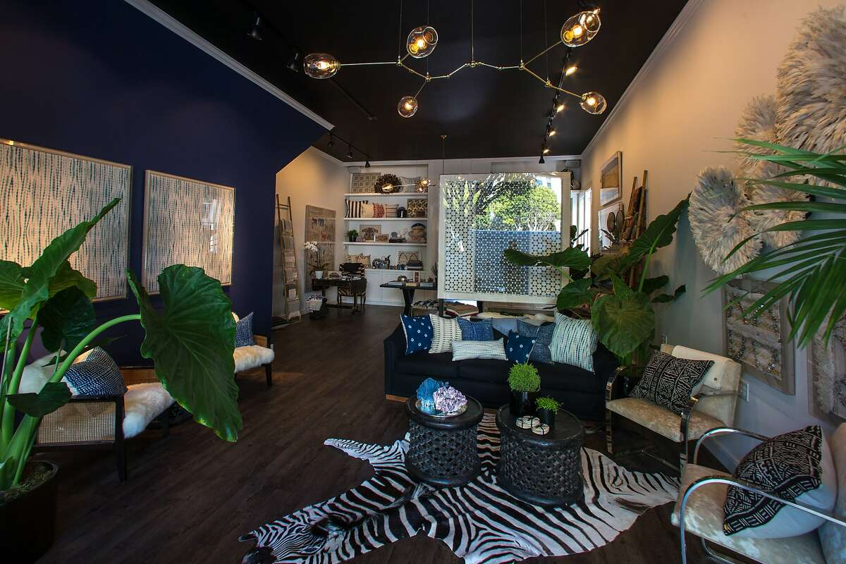 The interior of the new luxury home decor boutique, St. Frank, on Sacramento and Spruce streets is seen on Tuesday, Nov. 10, 2015 in San Francisco, Calif. Previously only available on their e-commerce site, customers can now experience the brand's distinct aesthetic and exclusive selection of handcrafted homeware created by artisans around the world.