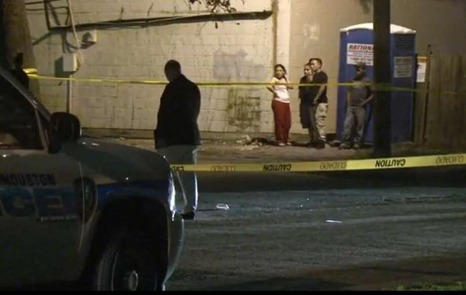 Houston police are looking for two men who got away in a tan Chevy SUB after fatally shooting a man during a robbery at Witte and Haddington in west Houston, Nov. 11, 2015. Photo: Christian, Carol, Via Metro Video