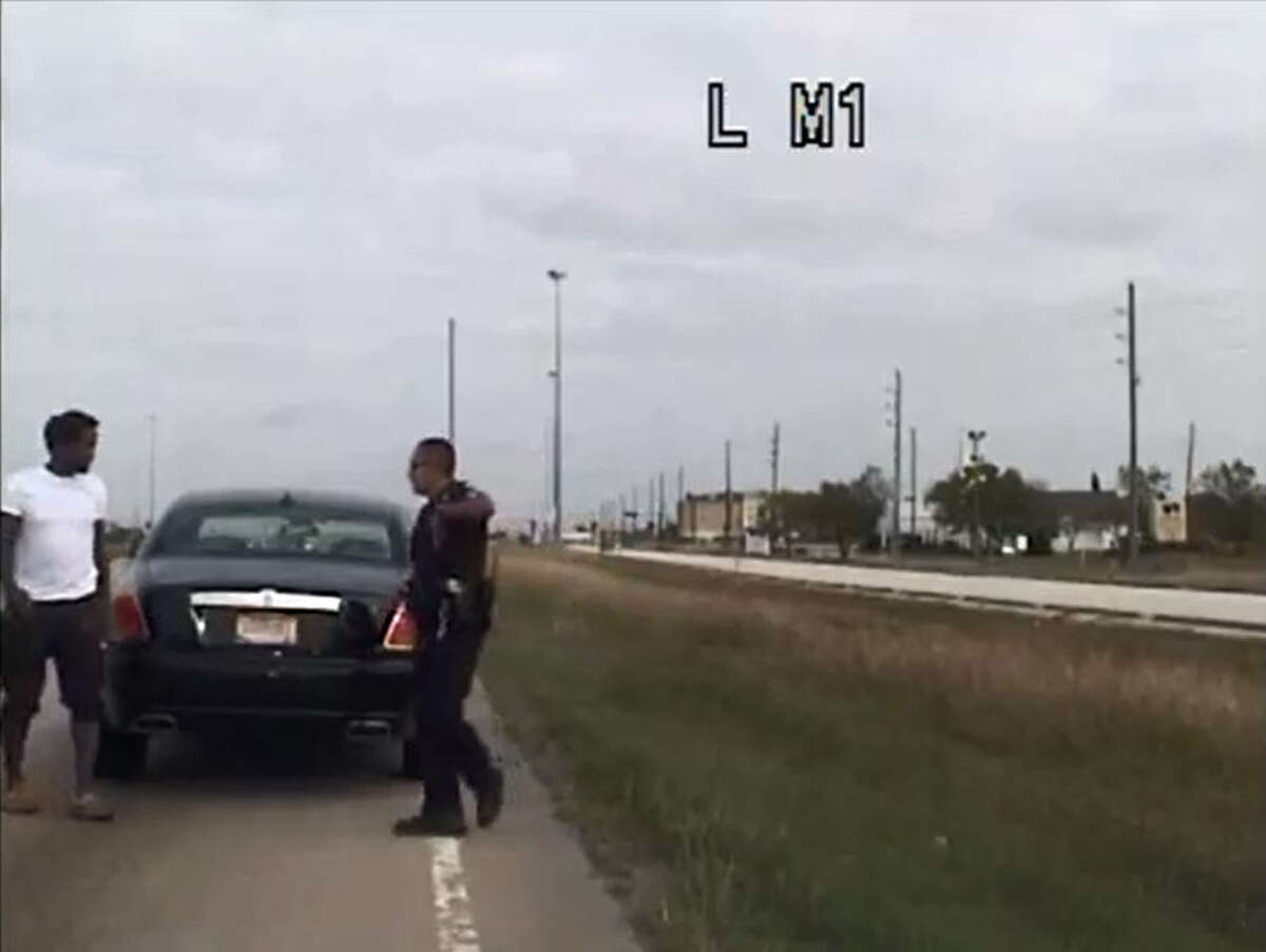 Video from Pearland (Texas) Police shows NBA star Patrick Beverley of the Houston Rockets pulled over and briefly arrested for a traffic violation Wednesday, Nov. 11, 2015.