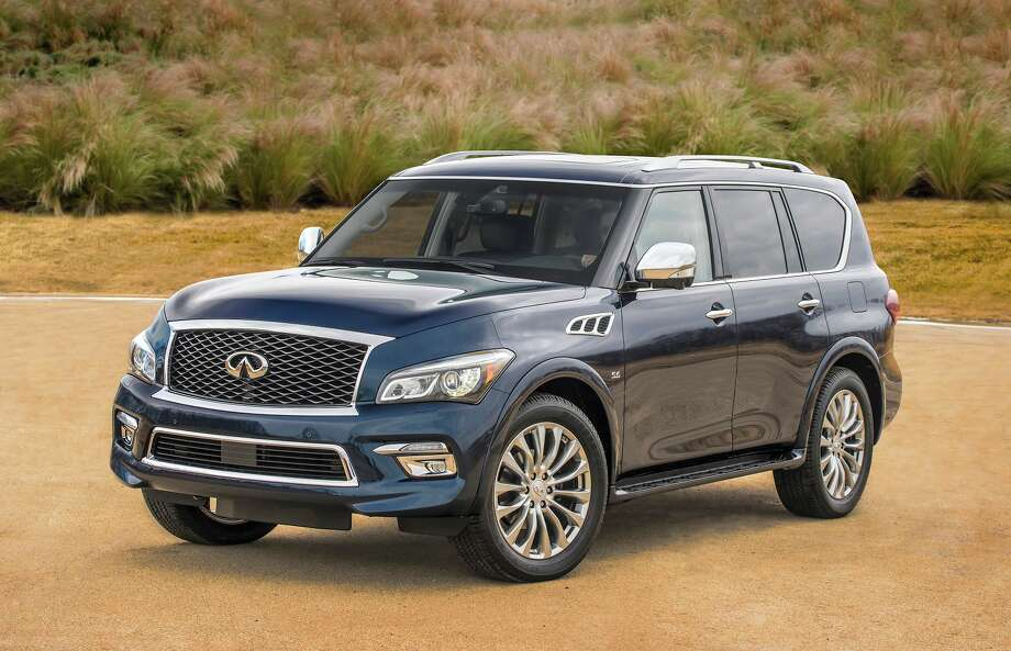 The QX80 is outfitted with a 5.6-liter V-8 that develops 400 horsepower and 413 lb.-ft. of torque. The transmission is a smooth seven-speed automatic and the QX80 will tow an impressive 8,500 pounds. Photo: Infiniti / © 2014 Nissan