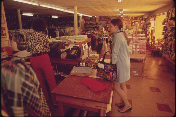 Interior of the Local General Store in Leakey, Texas, near San Antonio, 05/1973