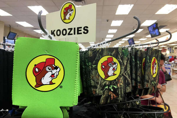 A wide variety of foods, drinks, souvenirs and other merchandise are available at the Buc-ee's flagship store on Interstate 10 in Luling, Texas between Houston and San Antonio.