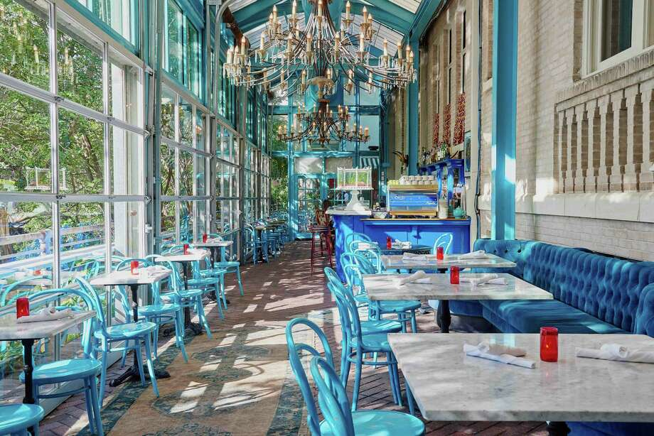 Hotel Havana's restaurant Ocho offers outdoor seating and almost-outdoor seating when its expansive windows open in the indoor dining area. Photo: Courtesy Of Nick Simonite