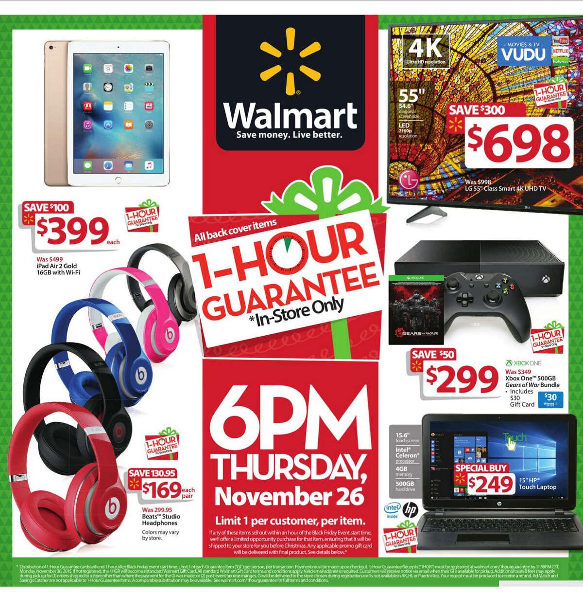 Walmart Black Friday 2015 newspaper circular (click expand button below for larger image).