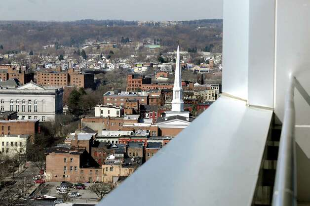 View of Troy from a balcony on Tuesday, March 15, 2011, at Empac in Troy, N.Y. (Cindy Schultz / Times Union) Photo: Cindy Schultz / 00012398A
