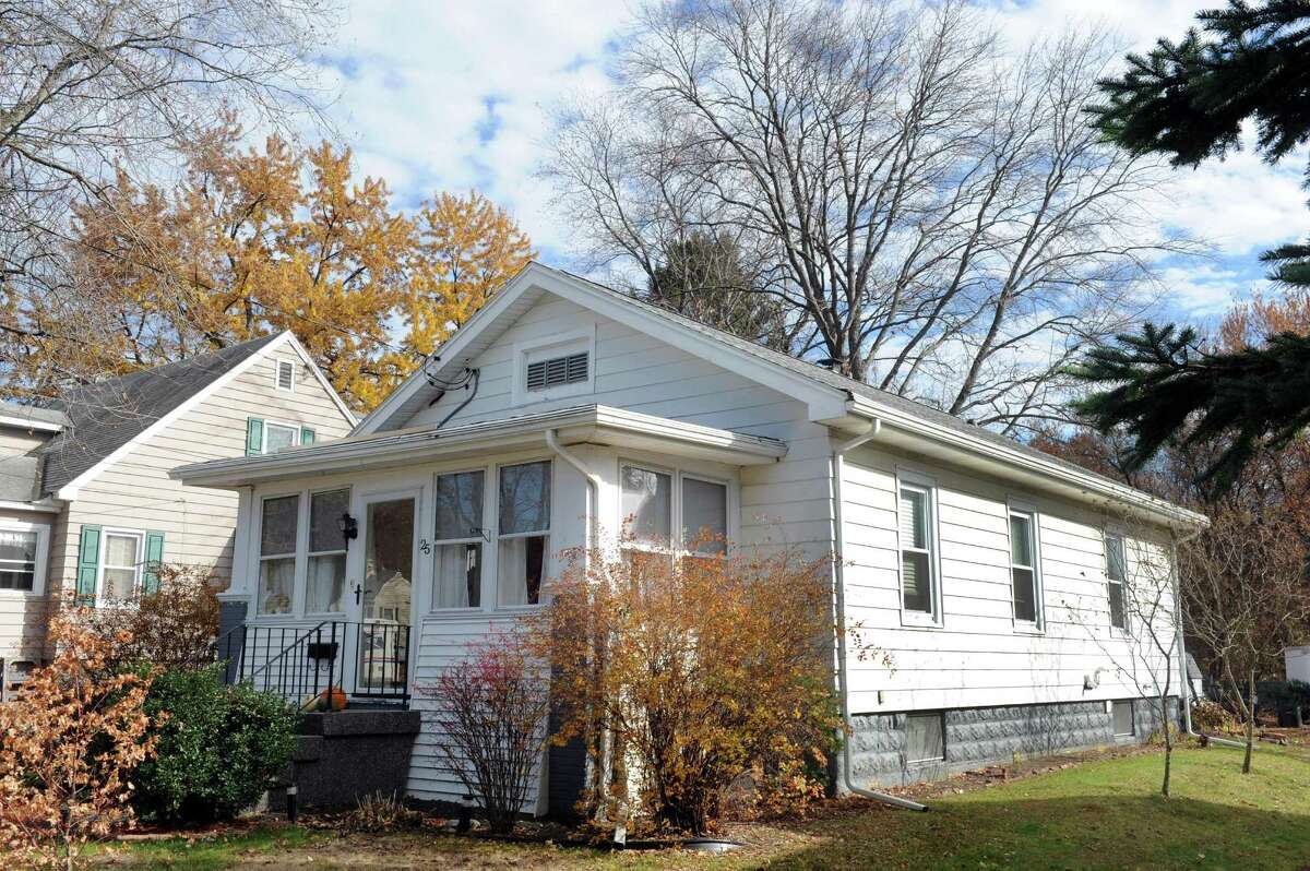 The house a 25 Wilkins Ave., Colonie is the Sears' Hampton model. The only change since it was built in the mid-1920s is the enclosed porch. (Michael P. Farrell/Times Union)
