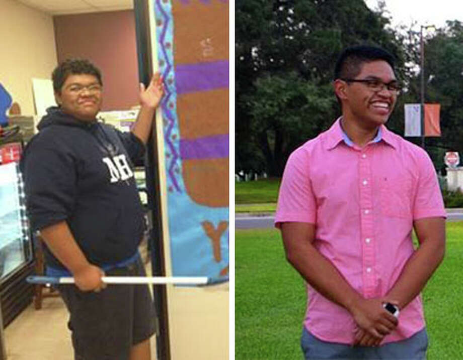 UTSA student Jomari Guerrero lost about 130 pounds over the span of about a year. Photo: Courtesy