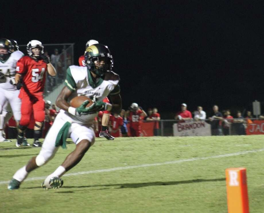 Legacy Christian Academy's Taydren Esprit has been a vital part of the Warriors' passing game. Esprit's success on the field helped the Warriors win the district championship. Photo: Courtesy Of Stephanie Parnell