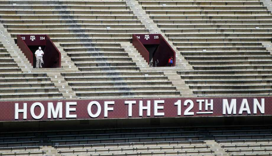 The original Home of the 12th Man sign from the old stadium before the start of a college football game at Kyle Field on Saturday, Sept. 12, 2015.  ( Karen Warren / Houston Chronicle ) Photo: Karen Warren, Staff / © 2015 Houston Chronicle