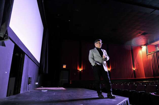 Michael Butler on stage at the Madison Theater where his play will be performed, seen here on Wednesday, Nov. 4, 2015, in Albany, N.Y.  (Paul Buckowski / Times Union) Photo: PAUL BUCKOWSKI / 00034074A