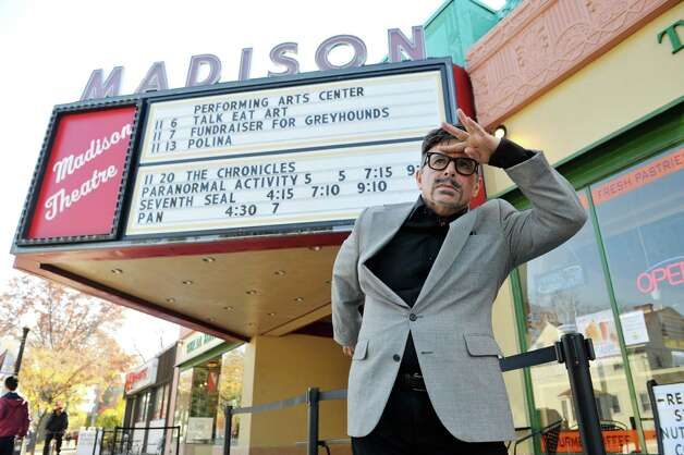 Michael Butler outside the Madison Theater where his play will be performed, seen here on Wednesday, Nov. 4, 2015, in Albany, N.Y.  (Paul Buckowski / Times Union) Photo: PAUL BUCKOWSKI / 00034074A