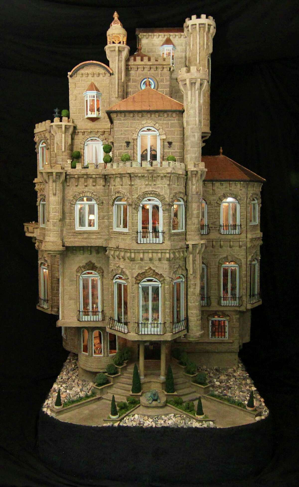 This dollhouse is worth $8.5 million, and has numerous intricate furnishings inside and out.