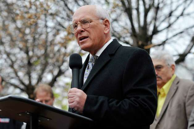 Congressman Paul Tonko, along with representatives from organized labor, community and faith groups take part in a press conference to voice their opposition to the Trans-Pacific Partnership on Thursday, Nov. 12, 2015, in Albany, N.Y.    (Paul Buckowski / Times Union) Photo: PAUL BUCKOWSKI / 00034190A