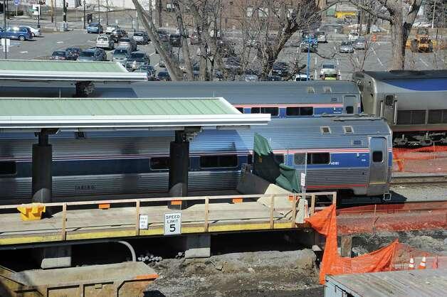 Progress continues on platform extensions at the Rensselaer Amtrak station Wednesday, March 25, 2015 in Rensselaer, N.Y. (Lori Van Buren / Times Union) Photo: Lori Van Buren / 00031163B