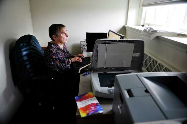 Sally Friedman, an associate professor of political science at the University at Albany works in her office on Wednesday, Nov. 11, 2015, in Albany, N.Y.  Friedman is the author of the book, 52 Quotes to Color Your Weeks.  (Paul Buckowski / Times Union) Photo: PAUL BUCKOWSKI / 00034197A