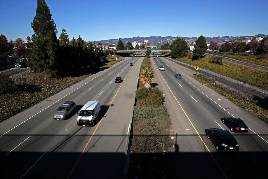 Looking East from 12th Street to I-980 freeway below that runs between I-880 and I-580 through downtown in Oakland, Calif. as seen on Thurs. November 12, 2015. Photo: Michael Macor, The Chronicle