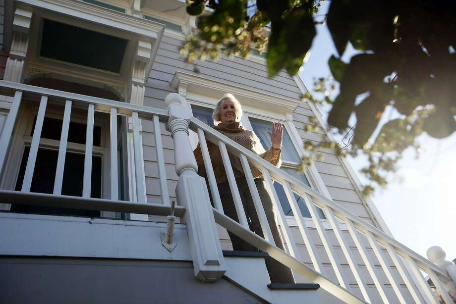 Ann Romick at the home where she grew up. When her parents purchased the house when she was 11 years old in 1941, they paid $800. The home is now worth $1M+. November 12, 2015 Photo: Franchon Smith, The Chronicle