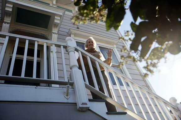 Ann Romick at the home where she grew up. When her parents purchased the house when she was 11 years old in 1941, they paid $800. The home is now worth $1M+. November 12, 2015