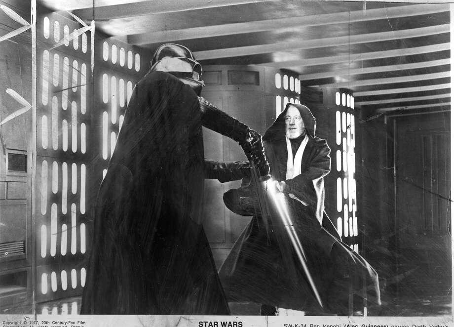 """Darth Vader battles Ben Kenobi in the original """"Star Wars."""""""
