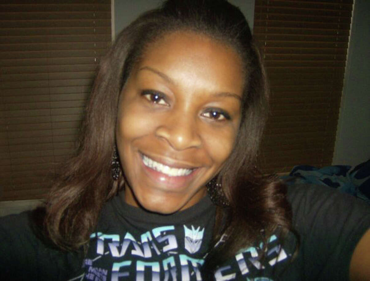 In this undated photo provided by the Bland family, Sandra Bland poses for a photo. Bland, a black 28-year-old from suburban Chicago, was found dead in jail on July 13, 2015. Texas authorities have said Bland hanged herself with a garbage bag, a finding that her family disputes. She was in custody after a traffic stop for failing to use a turn signal escalated into a physical confrontation with a white state trooper. (Courtesy of Bland family, File)