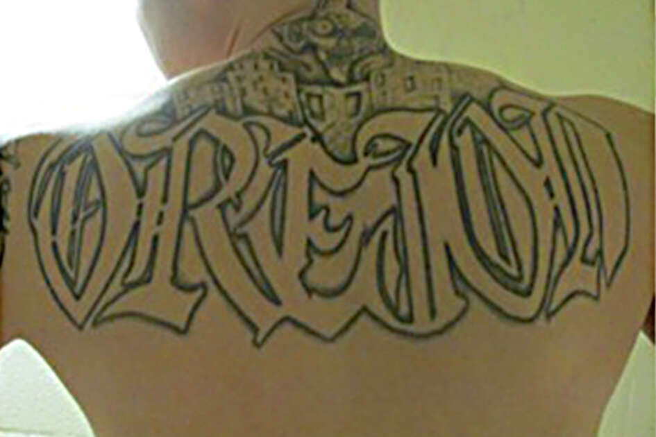 In prisons across Texas, members of a notorious gang with roots in San Antonio mark themselves for life with tattoos featuring icons from their native city. Images of the Alamo, the San Antonio skyline and the city's 2-1-0 area code are favorites of local Tango Orejon members. Among the most iconic and commonly used image the Orejones wear on their skin is the logo of the hometown favorite San Antonio Spurs.