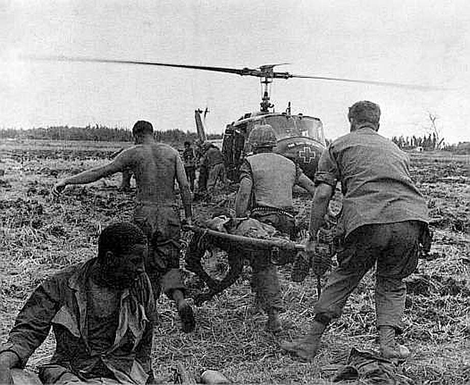 'Dustoff' ambulance crews snatched 900,000 wounded American servicemen and allies from Vietnam combat zones. The unarmed pilots and crews endured a high casualty rate. Photo: Photos Courtesy Of Steve Vermill / Photos courtesy of Steve Vermill