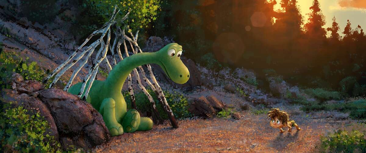 """""""The Good Dinosaur"""" tells the story of Arlo, a lively Apatosaurus with a big heart who sets out on a remarkable journey, gaining an unlikely companion along the way-a human boy. Directed by Peter Sohn (""""Partly Cloudy"""") and produced by Denise Ream (""""Cars 2"""", """"The Good Dinosaur"""" opens in theaters Nov. 25, 2015. ©2014 Disney•Pixar. All Rights Reserved."""