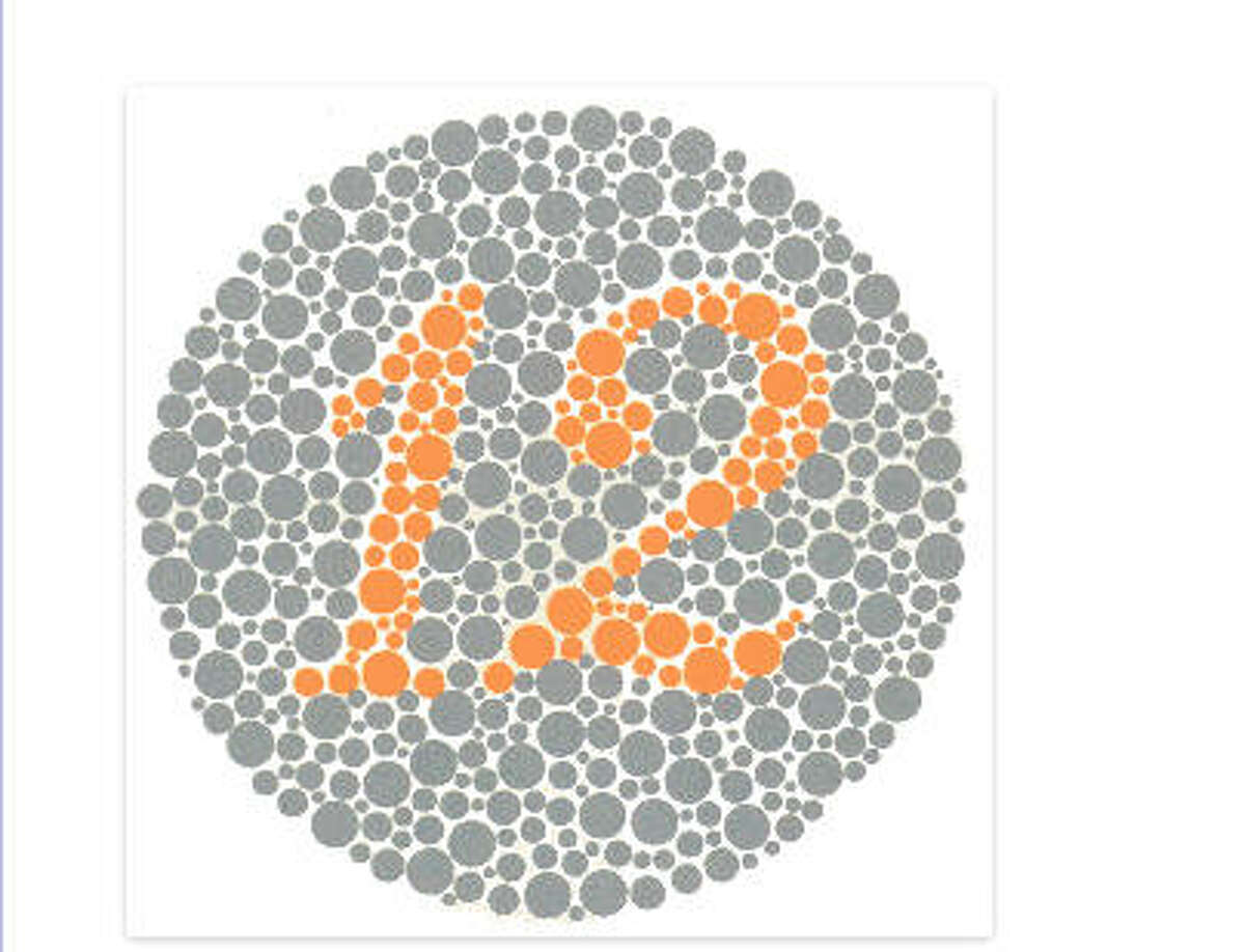 Are you color blind or color deficient? Click the slideshow to see if you can make out the numbers and images via ColorBlindness.com