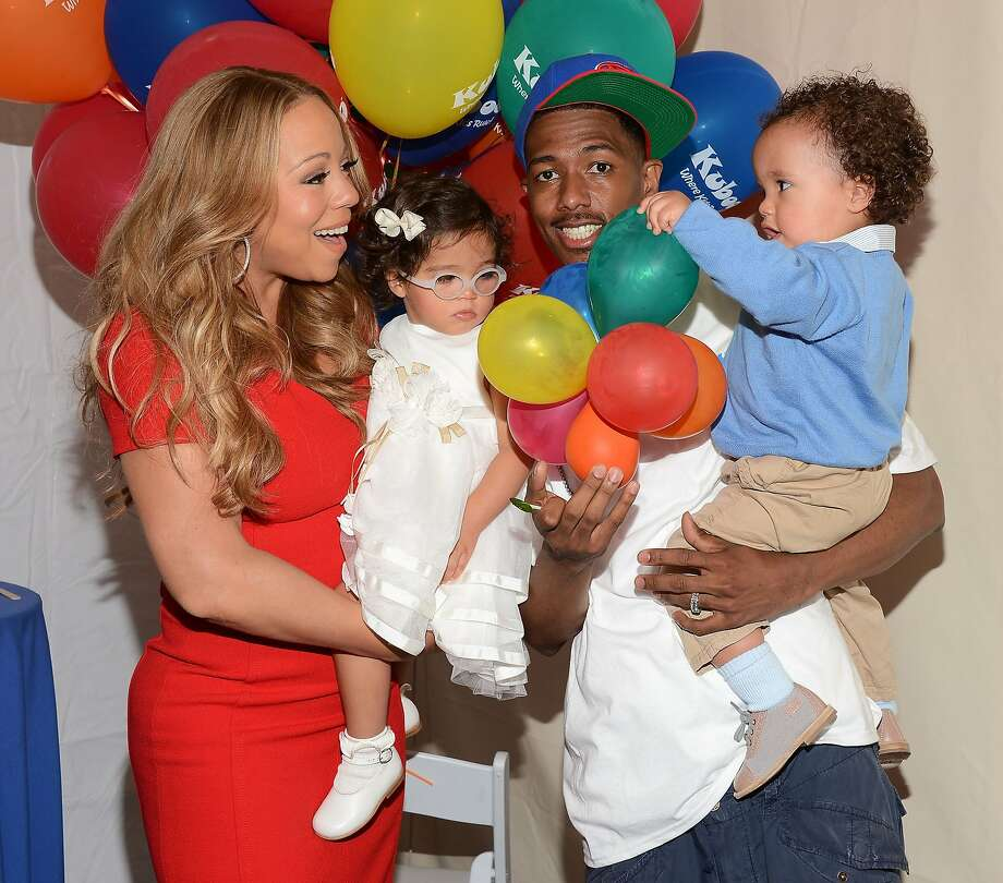 Moroccan and Monroe: children of Mariah Carey and Nick Cannon Photo: Amanda Edwards, Getty Images