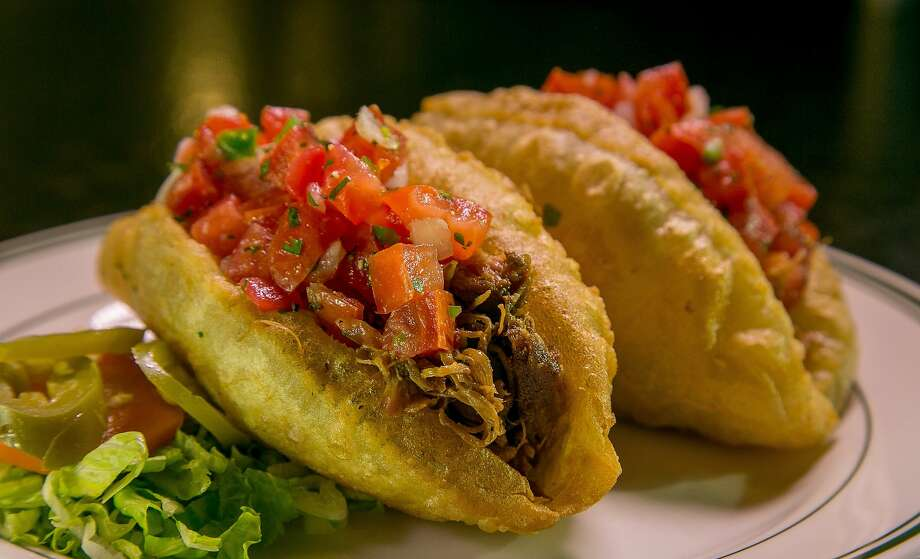 The Puffy Tacos with Carnitas at the Cadillac Bar & Grill in San Francisco, Calif. are seen on Thursday, November 12th, 2015. Photo: John Storey, Special To The Chronicle