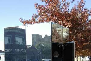 These one-of-a-kind glass restrooms in North Texas let people see out but not in - Photo