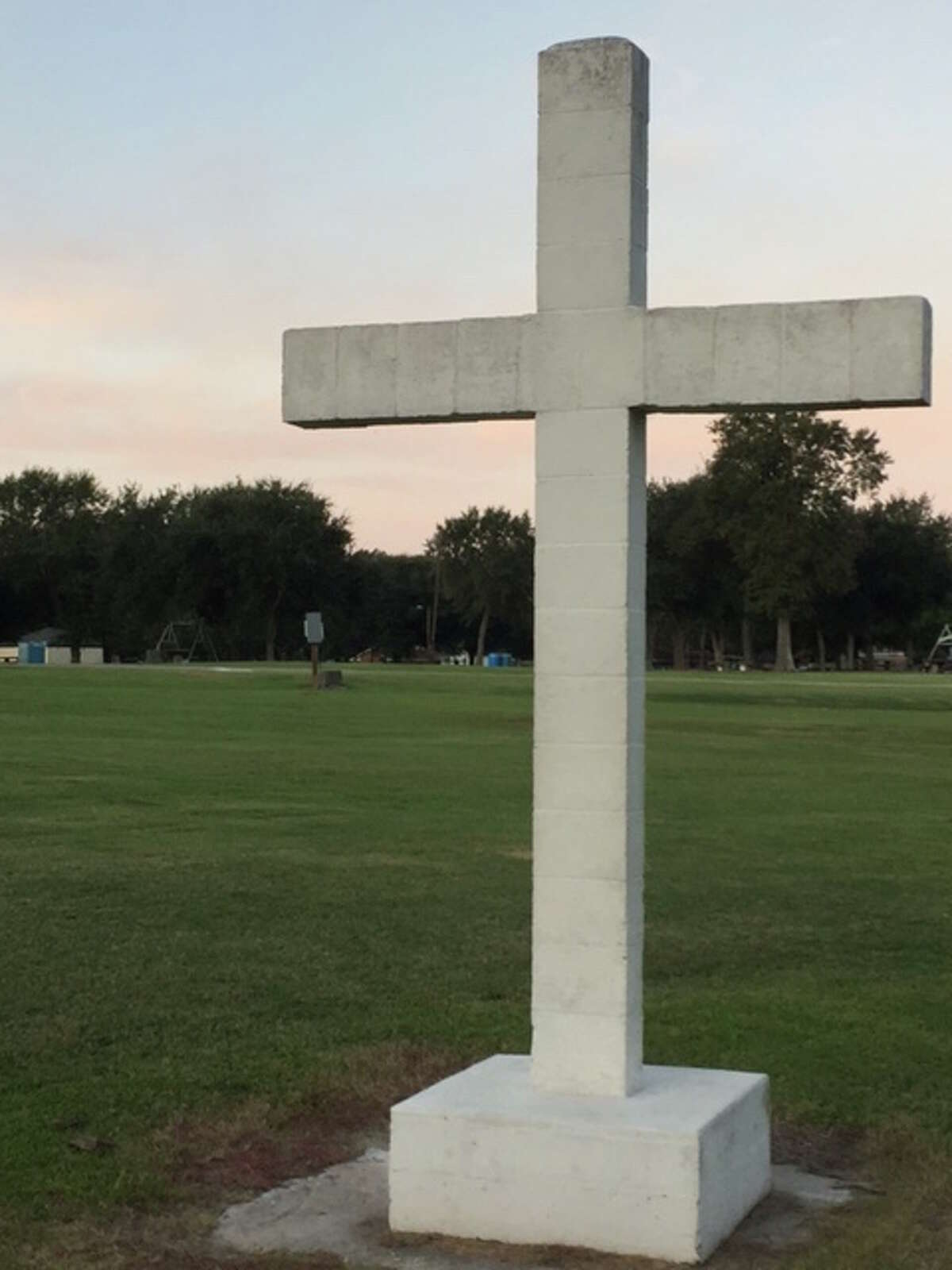 """A """"Latin"""" cross, so described by the Freedom From Religion Foundation, is a specific religious symbol for Chrisitianity and its installation at a Port Neches city park violates the constitutional separation of church and state, a foundation attorney said. The group is asking Port Neches to move the cross to private property."""