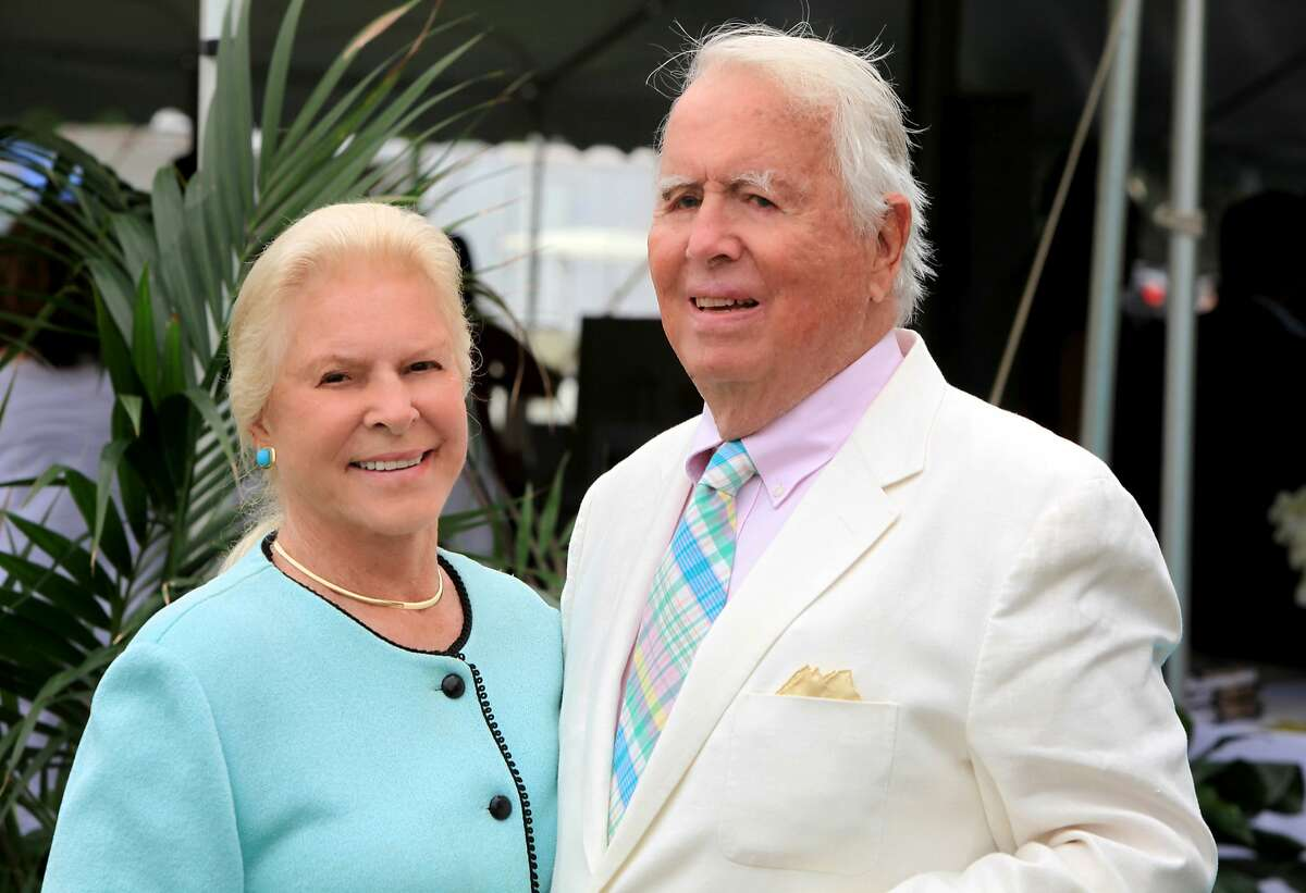 In this June 27, 2015 photo, Lois and Eugene Colley attend a match at the Mashomack Polo Club in Pine Plains, N.Y. Lois Colley, 83, a socialite known to mingle among New York's most powerful families, and the wife of a millionaire McDonald's franchisee, was found dead in the couple's North Salem, N.Y., hilltop estate Monday, Nov. 9.