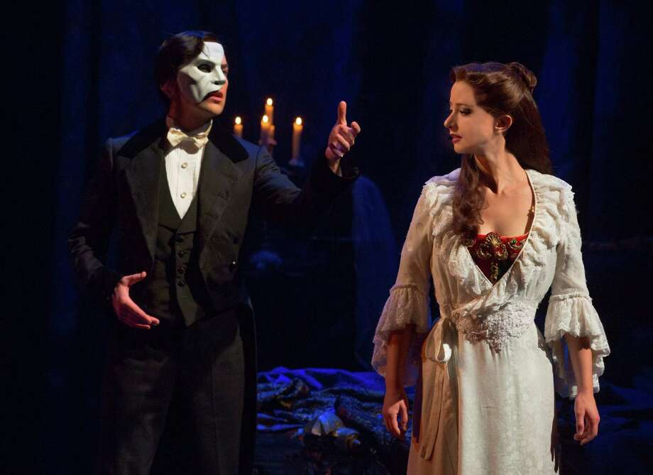 "Chris Mann and Katie Travis star in the new tour of ""The Phantom of the Opera."" Photo: Matthew Murphy"
