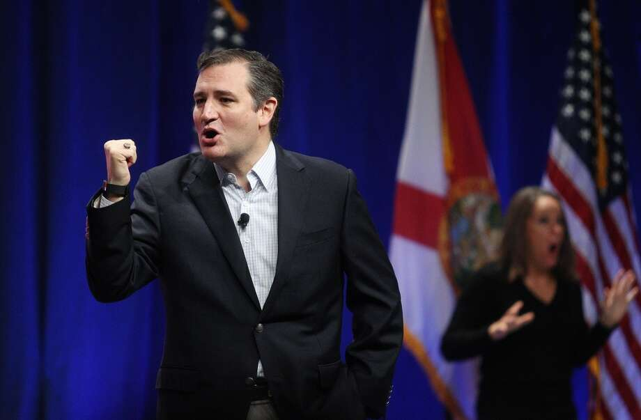 A super PAC says Ted Cruz, above, stopped President Obama's push for new gun laws in the wake of the Sandy Hook school massacre. Photo: Octavio Jones, Associated Press