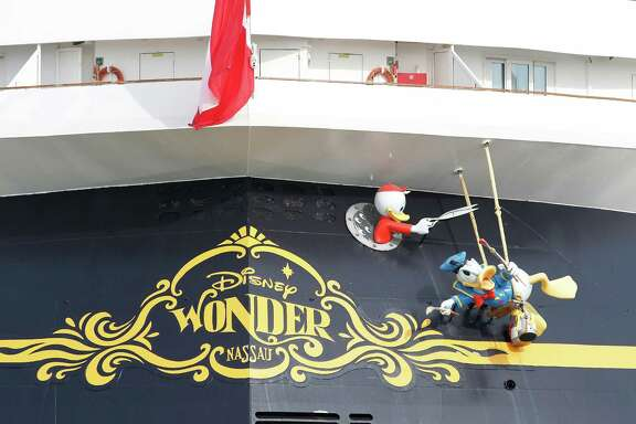 The Disney Ship Wonder  sits in port while workers work on the new terminal on November 13, 2015 in Galveston, TX.  (For the Chronicle: Thomas B. Shea)