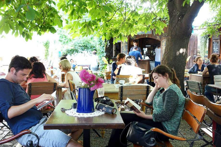 A vibrant café scene has reinvigorated Kraków's long-neglected Kazimierz neighborhood. RS14Summer_591.jpg Photo: Rick Steves