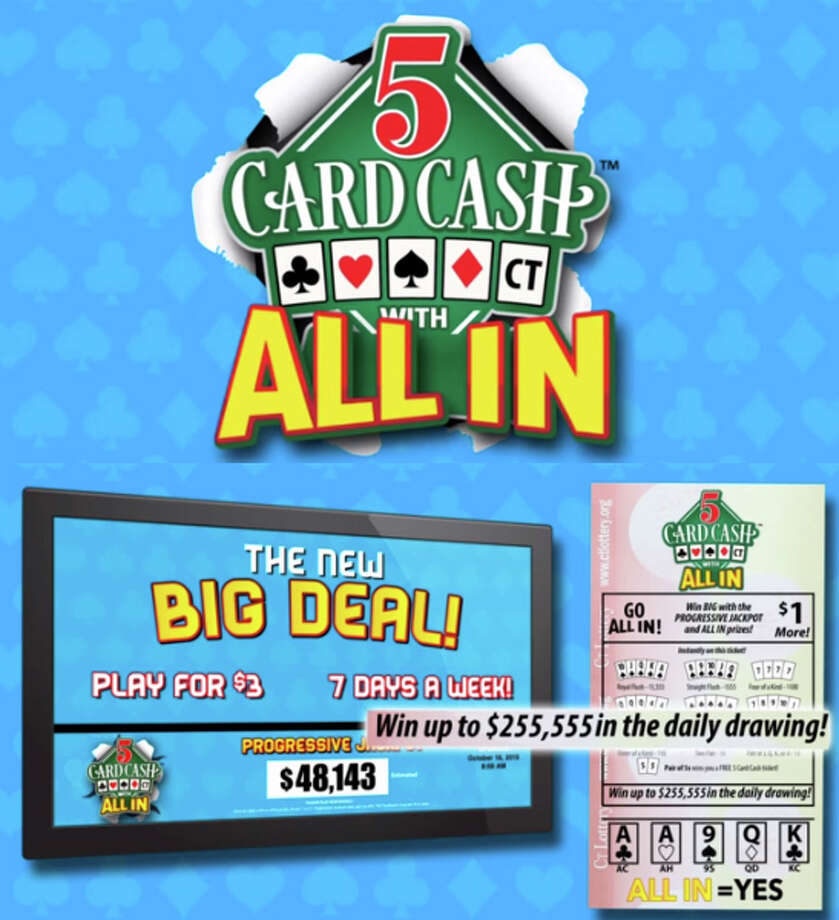 "Images from Connecticut Lottery's website to promote the ""5 Card Cash"" game. Photo: Contributed Photo / Connecticut Post Contributed"