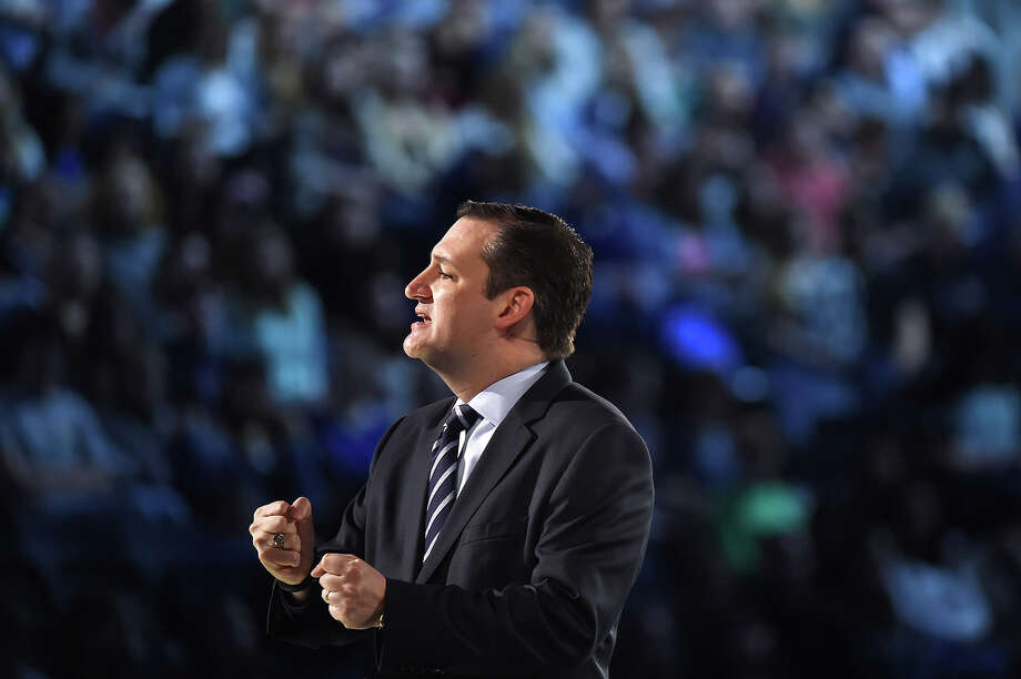 Sen. Ted Cruz, R-Texas announces his candidacy for president at Liberty University in Lynchburg, Virginia, on March 23. He is the first candidate to officially enter the race. Illustrates CRUZ (category a) by Katie Zezima (c) 2015, The Washington Post. Moved Monday, March 23, 2015. (MUST CREDIT: Washington Post photo by Matt McClain) Photo: MCCLAIN, STF / Washington Post / THE WASHINGTON POST