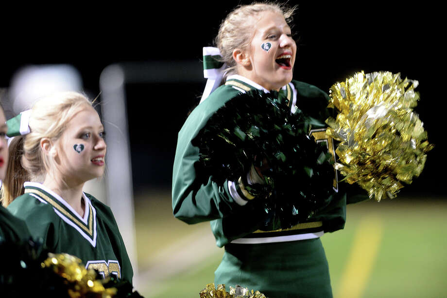 Legacy Christian Academy's cheerleaders react as they advance against Central Texas Christian during their playoff match-up at the Thomas Center in November 2015.Legacy was ranked the No. 71 top private high school in Texas. Click through the slides to see which other schools around the state made the list. Photo: Kim Brent / Beaumont Enterprise